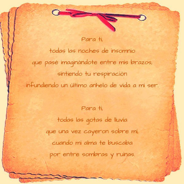 Poemas de dedicar a mas amo