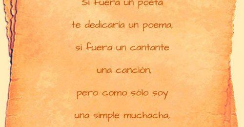 Poesía para dedicar