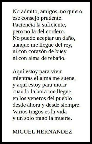 Miguel Hernandez y sus poesías breves