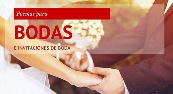 Cortos y preciosos poemas para bodas