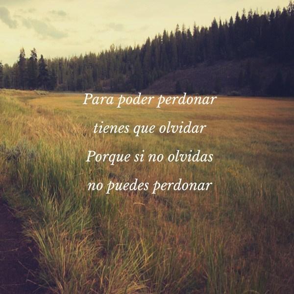 Poemas para perdonar