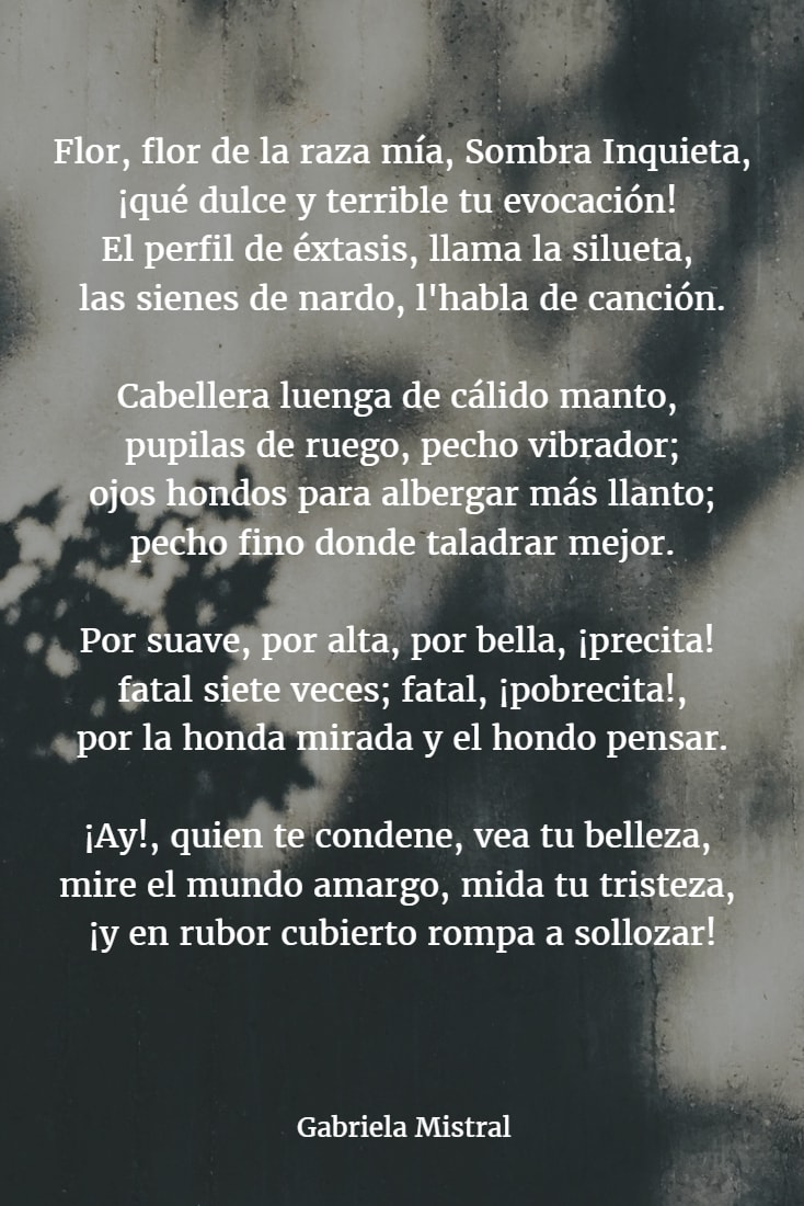Poemas de gabriela mistral 2