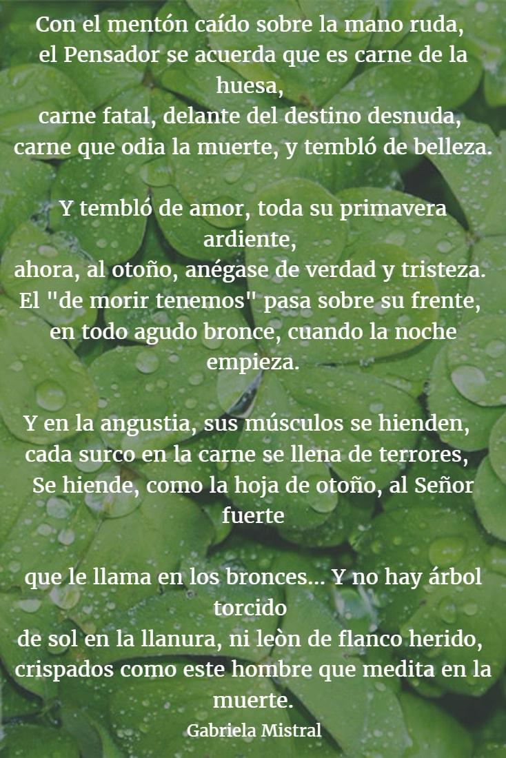 Poemas de gabriela mistral 5