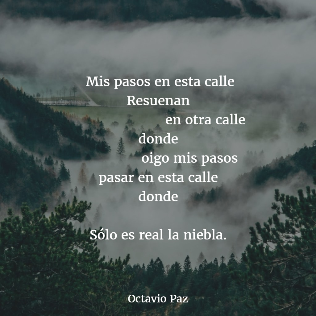 an analysis of octavio pazs poem as one listens to the rain The speaker is obsessed with the death consciousness which freud calls thanatos he fears that he will die one day and he will be abandon from this life, his writing and his body.